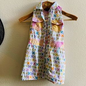OILILY GIRLS butterfly shirt dress cotton 104 4-5